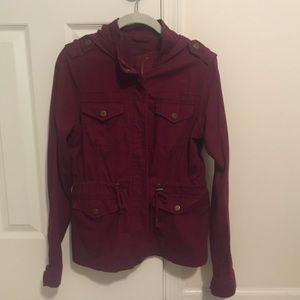Aeropostale maroon utility jacket
